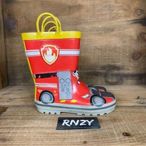 Paw Patrol Red Yellow Waterproof Boot